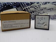 1x HB Elima F48N Ampermeter 0-60A 2.5VAC Moving Coil Indicator Amper Meter