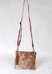 Real Cowhide Cross body Purse Handbag & Hand Clutch  Cow Hide Leather  SA-6283