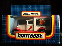 MATCHBOX MB-38 FORD MODEL A ISLE of MAN TT 1989 RED & WHITE NEW in OPENED BOX
