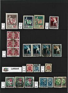 Lettland Latvija Kleine Sammlung 1919-1940