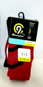 C9 Champion Boys' 3 + 1 Bonus Pack All Sport Youth Crew Cushioned Socks -