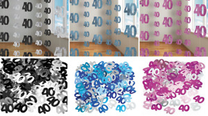 40th Birthday Decorations Hanging String Ceiling Party Room Wall Confetti Banner