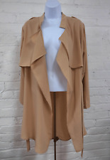 WOMEN CASUAL LOOSE TRENCH COAT STYLE JACKET COAT OUTERWEAR FITS SMALL TO MEDIUM