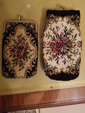 2 Vintage Floral Tapestry Sunglasses, Coins or Cigarette Case