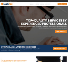 Handyman Business Website - 1-Page Wordpress - Free Installation To Your Hosting