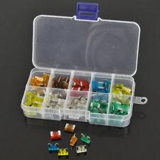 100Pcs Assorted Car Mini Low Profile Fuse Box 5 7.5 10 15 20 25 30 A DIY Sales