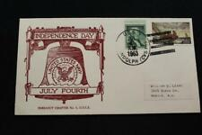 NAVAL COVER 1963 SHIP CANCEL INDEPENDENCE DAY USS RANDOLPH (CVS-15) (5753)
