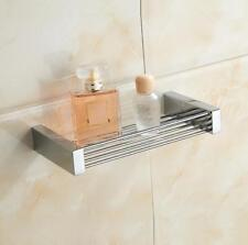 Bathroom Soap Dish Basket Holder Bathing Storage Hanger Wall Shelf Brass Chrome