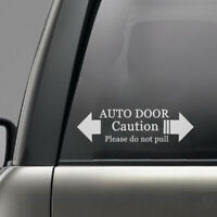 Universal Car Silver White Auto Door Caution Please Do Not Pull Warning Sticker