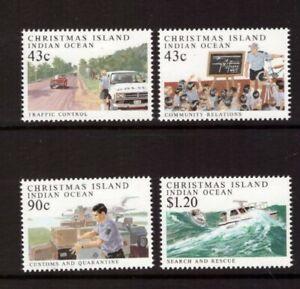 Christmas Island 1991 Police Force set MNH mint stamps