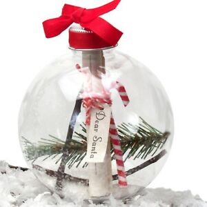 Child to Cherish Santa Handprint Message Shatterproof Christmas Ornament 159668