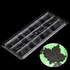 DIY Maple Leaf Chocolate Mold Polycarbonate Sugarcraft Mould Candy Cookies Tray
