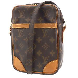 LOUIS VUITTON Danube Shoulder Bag Monogram Brown M45266 Vintage Auth #AD135