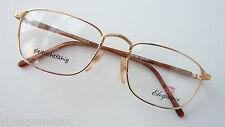 Elegance 22k GP Occhiali di marca Metallo Antico Look acetato STAFFA 54-19 SIZE M