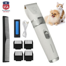 Pet Dog Cat Hair Clipper Grooming Kit Cutting Machine Electric Trimmer Shaver US