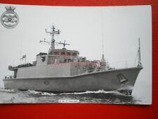 PHOTO  HMS WALNEY (M104) WAS A SANDOWN-CLASS MINEHUNTER OF THE BRITISH ROYAL NAV