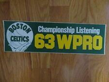 "Vintage BOSTON CELTICS Championship Listening 63 WPRO 12"" STICKER / DECAL"