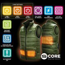 Saber Heated Fishing Gilet USB Battery Waistcoat Body Warmer Jacket Vest 4 Sizes