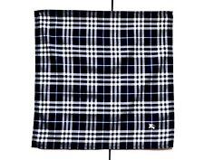 Burberry Bandana Pocket Square Handkerchief Neckerchief Nova Check Dark Blue