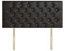 Beautiful Faux Leather Chesterfield Headboard, Diamante Headboard, All Sizes