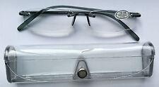 +1.50 Auction! (NEW) MEMOFLEX +1.50 RIMLESS READING GLASSES mens ladies designer