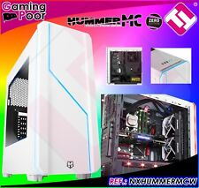 Box Gaming Tower Nox Hummer Mc White with Mdl Perspex + 2 Fans