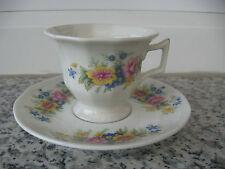 TASSE MOKA Porcelaine LIMOGES BOUQUET FLEURS
