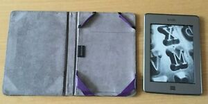 AMAZON KINDLE TOUCH (4TH GENERATION) 4GB, WI-FI, SILVER, WITH M-EDGE PURPLE CASE