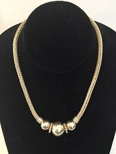 Classic Vintage Balinese 925 Sterling Silver Beaded Chain Necklace