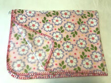 Parent's Choice Pink Fleece Floral Daisy Dots Baby Girl Blanket Lovey Stitching
