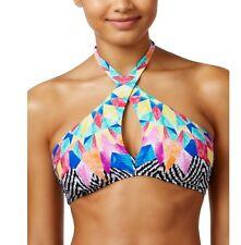 Bar III Feathered Daze multi color bikini top size L