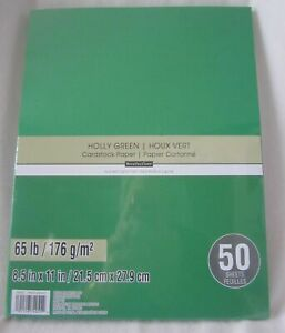 """RECOLLECTIONS CARDSTOCK Paper 8 1/2"""" x 11"""" 50 Sheets 65 lb SOLID COLOR U PICK"""