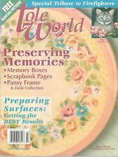 TOLE WORLD Magazine Feb 2002 Special Tribute to Firefighters with Patterns