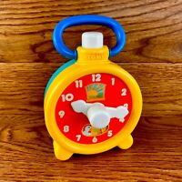 Rare Vintage Tomy Ring a Dingy Clock 1983 Toy Fwo Vgc Ticking Sounds Animals