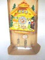 Schwarzwald Kuckucksuhr Magnet Poly Souvenir Germany richtige Uhr !!!