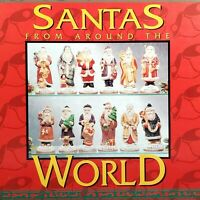SANTAS FROM AROUND THE WORLD Bisque Porcelain Figurines Set of 12 Vintage COA