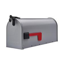 Gray Post Mount Mailbox Medium Steel Heavy Duty Curbside Storage Box Gibraltar