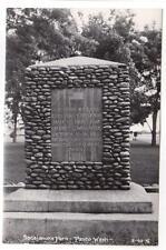 Vintage Postcard Real Photo Washington Sacajawea Park Monument Pasco P6280