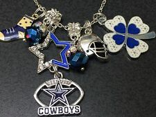 "Western Cowboys Star Boot Football Dallas Charm Tibetan Silver 18"" Necklace"