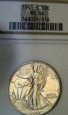 1941-S Liberty Walking Half Dollar NGC MS 64  (C2264)
