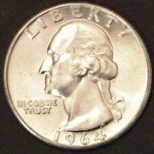US Silver Quarter Dollaro George Washington 1964 P ARGENTO BANCA freschi timbro lucentezza