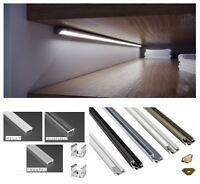 Aluminium Profile Corner 5 colours 1M for LED Light Strip with Cover + Caps