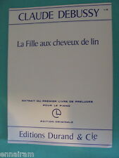 Debussy La Fille aux Cheveux de Lin 1957 The Girl With the Flaxen Hair piano