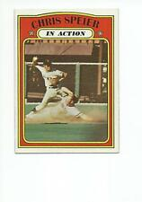 CHRIS SPEIER 1972 Topps In Action card #166 San Francisco Giants NR MT