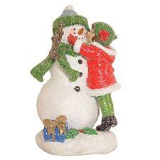 20Cm Pupazzo di neve natale & bambina decorazione dell'ORNAMENTO TRADIZIONALI