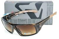 NEW Ryders Eyewear Trapper Brown Stripe Demi w/ Brown Polarized Lens Sunglasses