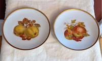 PMR Bavaria Jaeger Co Golden Crown E&R 1886 Salad Dessert Plate 2pc Harvest