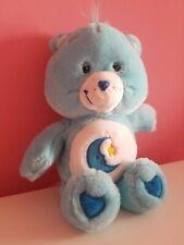 Care Bears 2002 Bedtime Bear 13� Plush Stuffed Animal Blue Smiling Moon