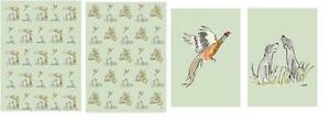 Shooting Game Day present wrapping paper & gift tags pheasants, black labradors