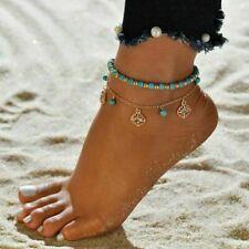 New Women Multilayer Anklets Sandbeach Tassels Foot Chain Bohemia Beach Jewelry